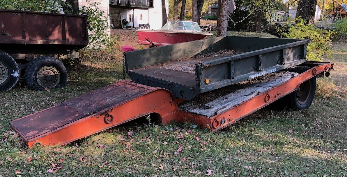 WWII Fruehauf Low Boy Trailer